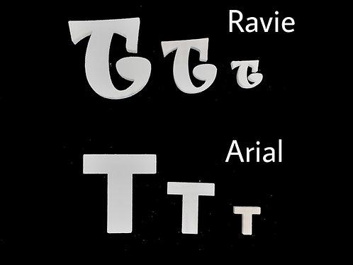Letra T Tipografia ARIAL o RAVIE