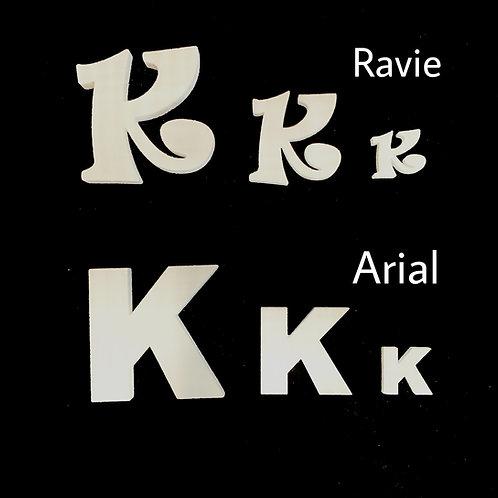 Letra K Tipografia ARIAL o RAVIE