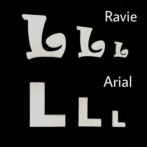 Letra L Tipografia ARIAL o RAVIE