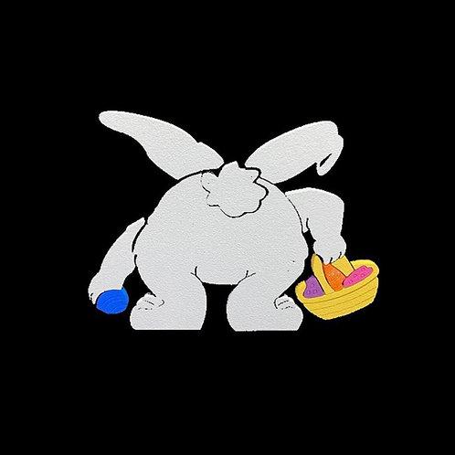 Conejo Recogiendo Huevos