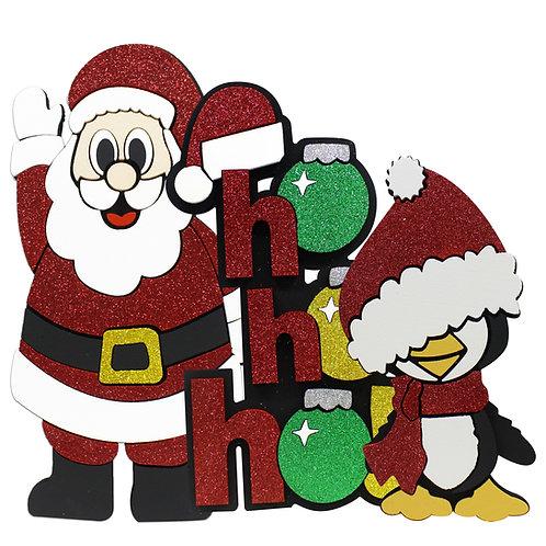 Santa Claus, Ho ho ho! y Pingüino