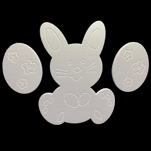 Conejo para Patio con 2 Huevos