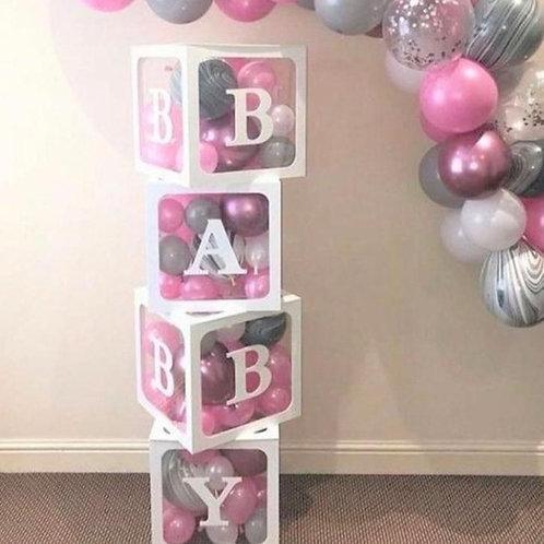 """Cajas """"B A B Y"""" Set (4 Cajas )"""