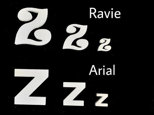 Letra Z Tipografia ARIAL o RAVIE