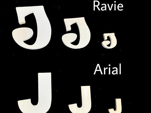 Letra J Tipografia ARIAL o RAVIE