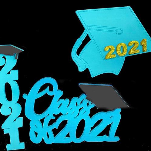 Decoraciones Graduación (Turquesa)