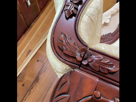 Butterfly Logo Hand Carved Chair