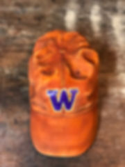 University of Washington Huskies Wood Carved Hat