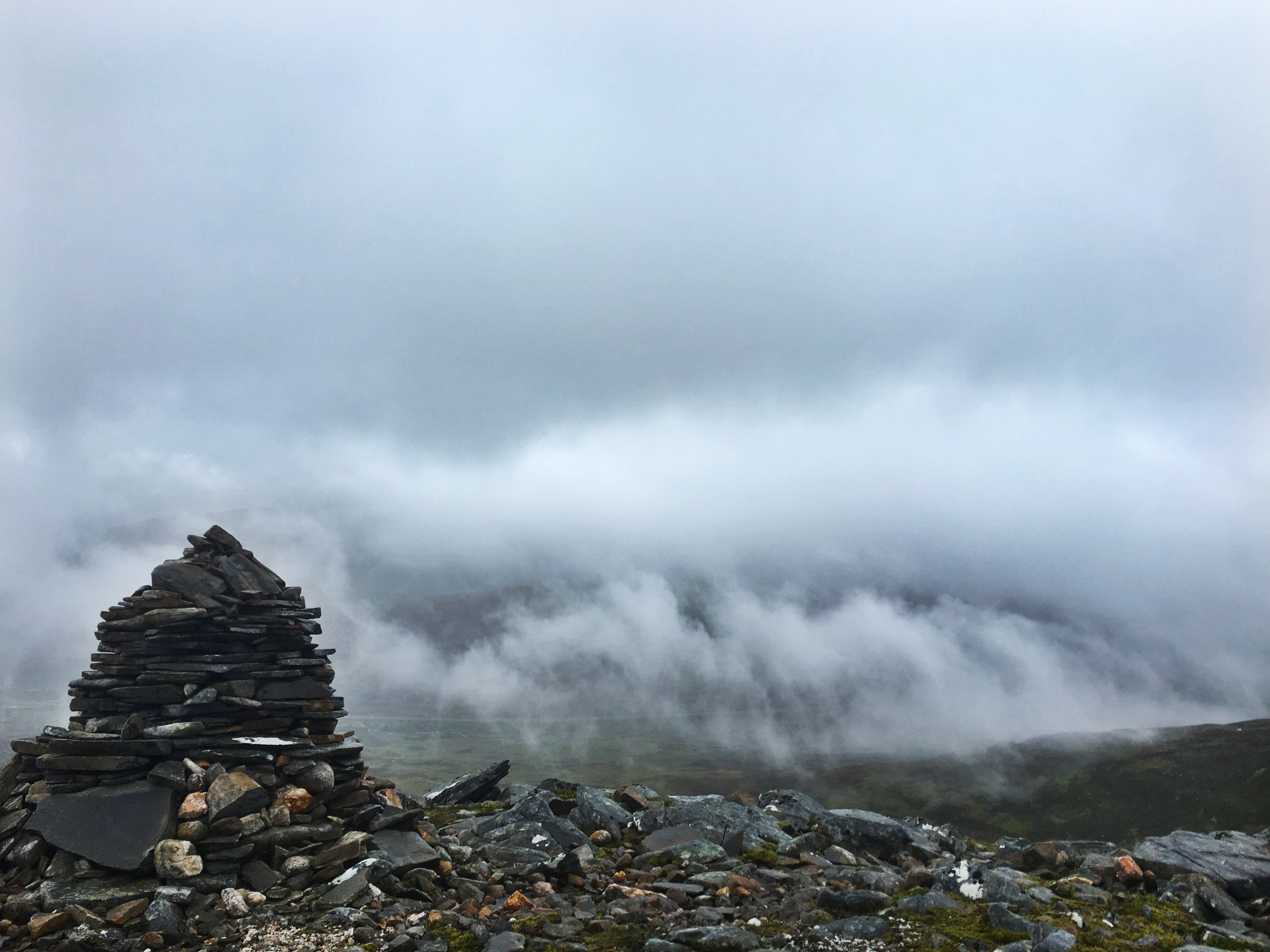 Geal-charn summit, 2016
