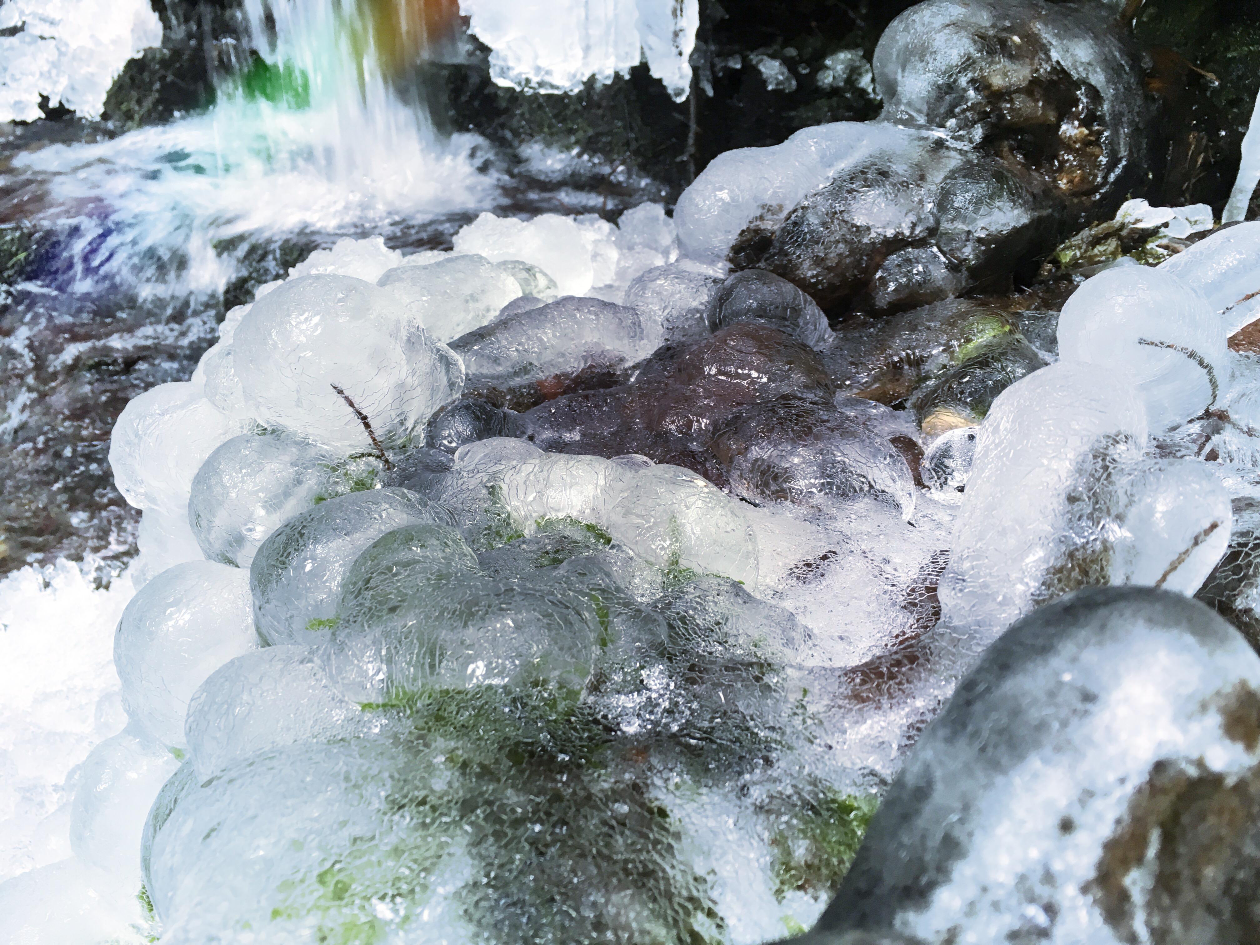 Frozen river, Culloden, 2018