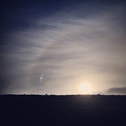 Sunset on Am Faochagach, 2017