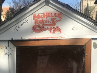 Library created in Michelle Obama's honor was vandalized with Trump's name