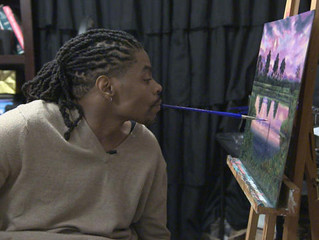 Paralyzed Gunshot Victim Learns To Paint With His Mouth; 'It's An Obsession. I Love It That Much