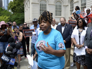 Eric Garner's mother says she was let down by Mayor De Blasio's response to question about c