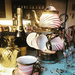 Prosecco in a Tea pot