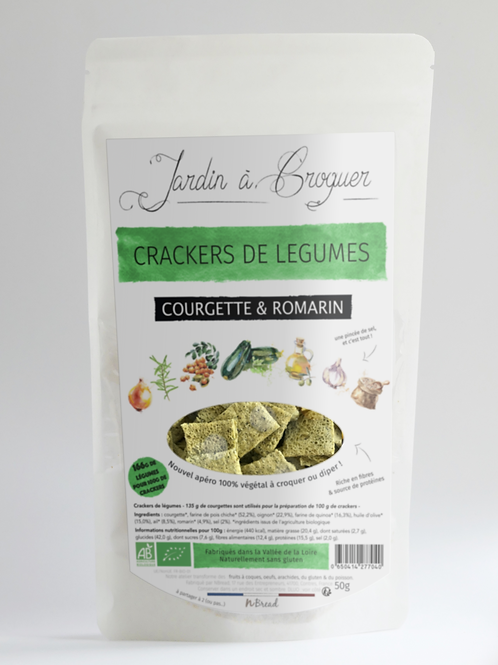 Crackers Courgette Romarin