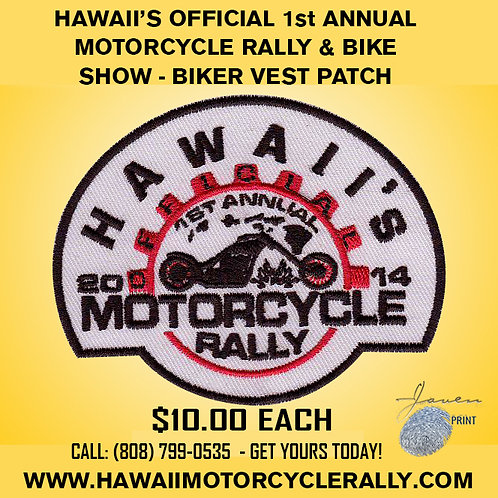 1st Annual Motorcycle Rally Biker Vest Patch