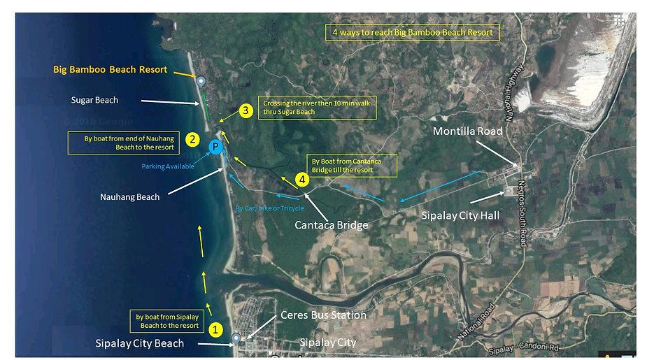 Big Map Of North America, Big Bamboo Beach Resort Directions_v2 0, Big Map Of North America