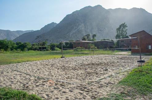 Cancha de arena para voley, BCM Perú.