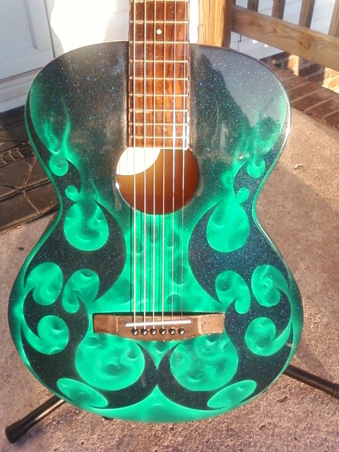 Airbrushed Guitar