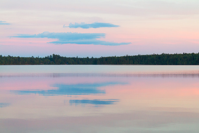 Dusk over a Lake in Maine
