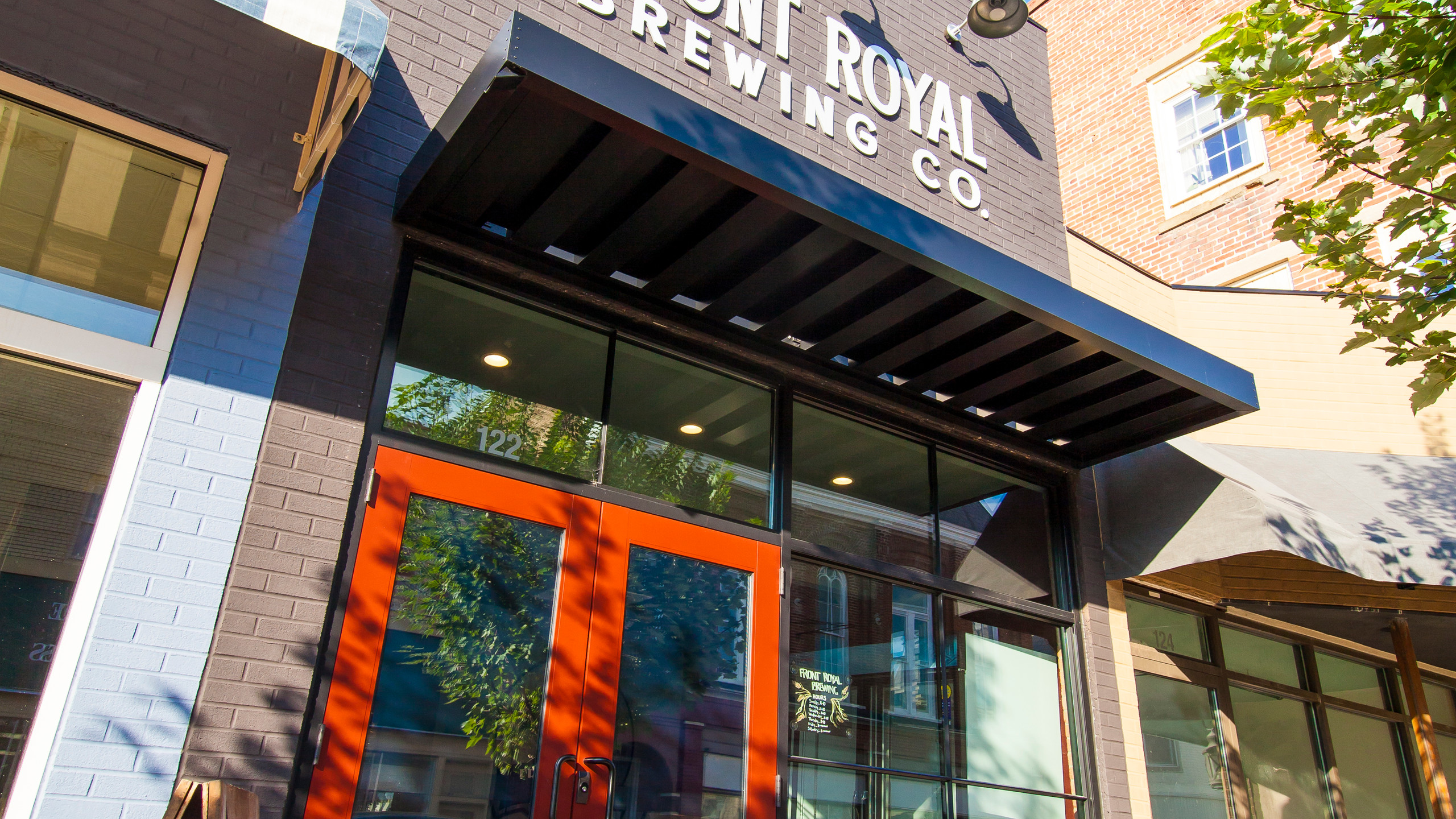 Street view of Front Royal Brewing C