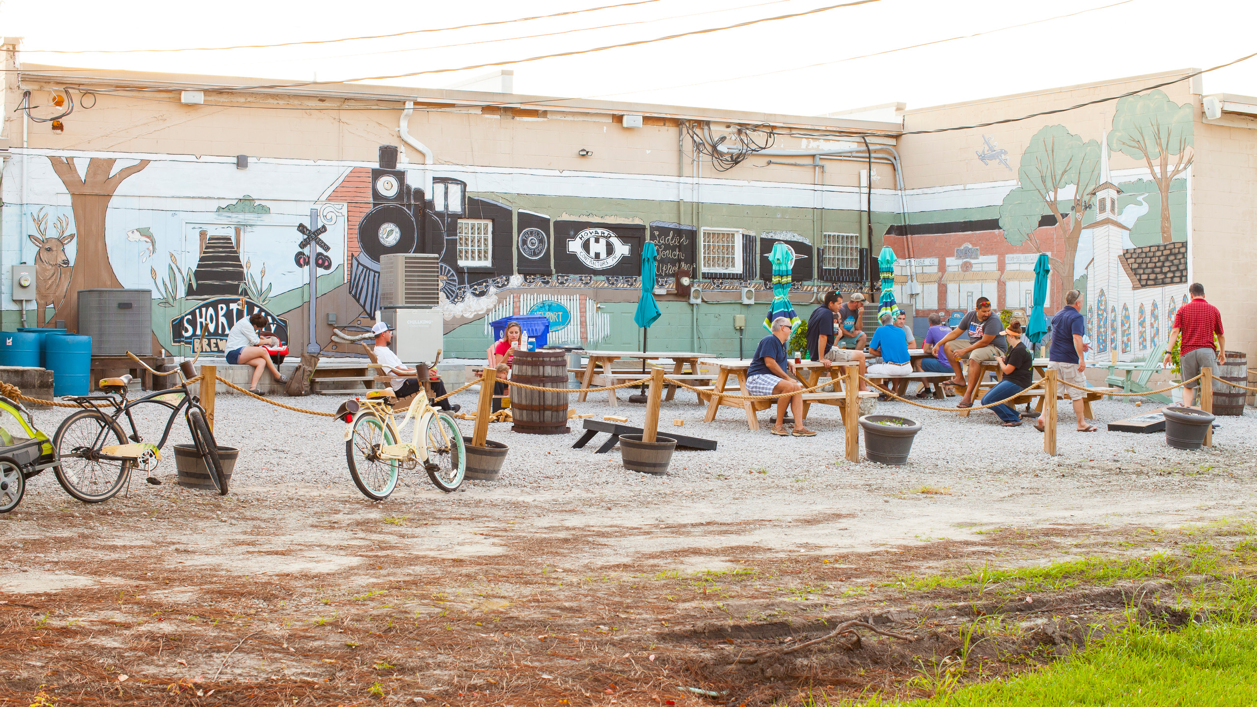 Bikes and patios