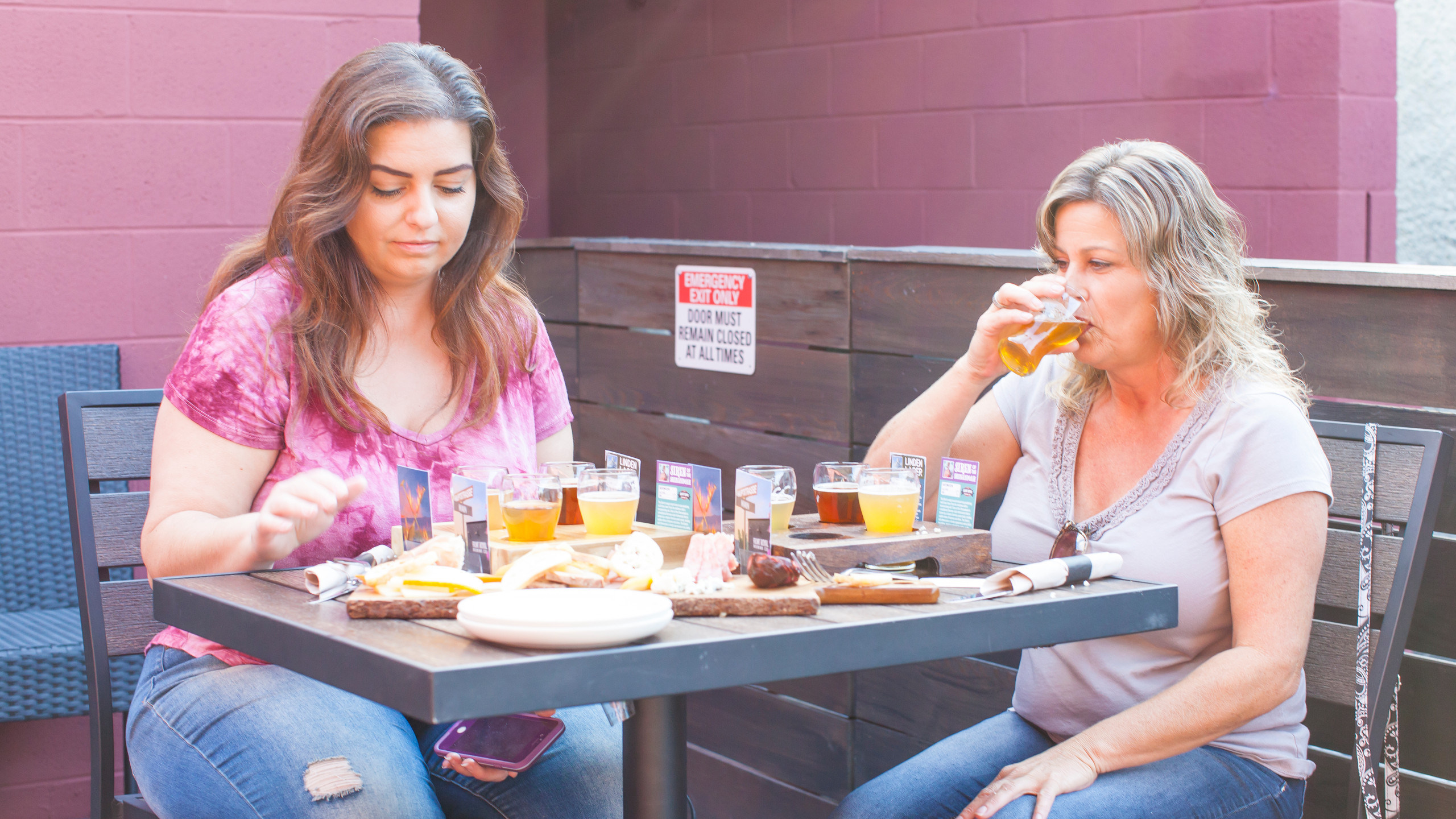 Flights and Food on the patio