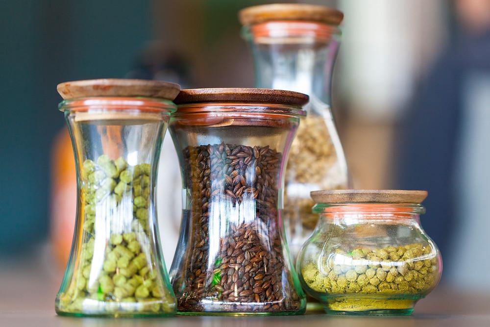 Hop Pellets and Roasted Barley