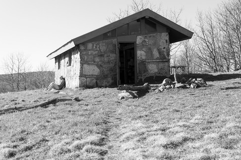 Chestnut Knob Shelter in Virginia
