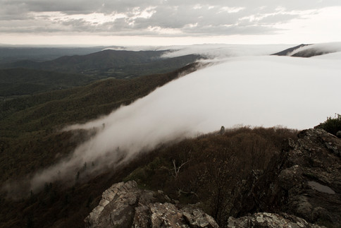 Clouds roll in, Shenendoah National Park