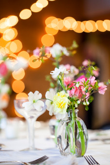Wedding flowers at reception