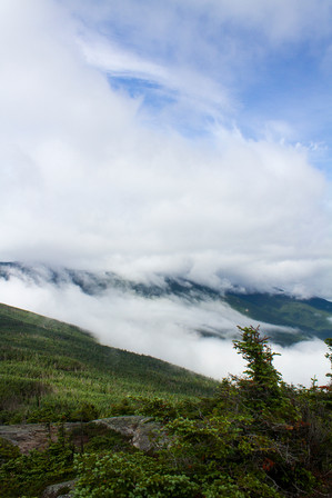 Clouds over the Mountain in Maine