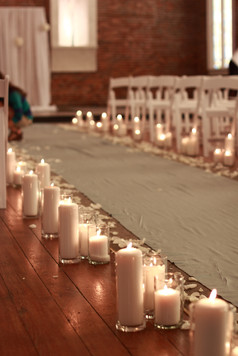 Candle lined aisle