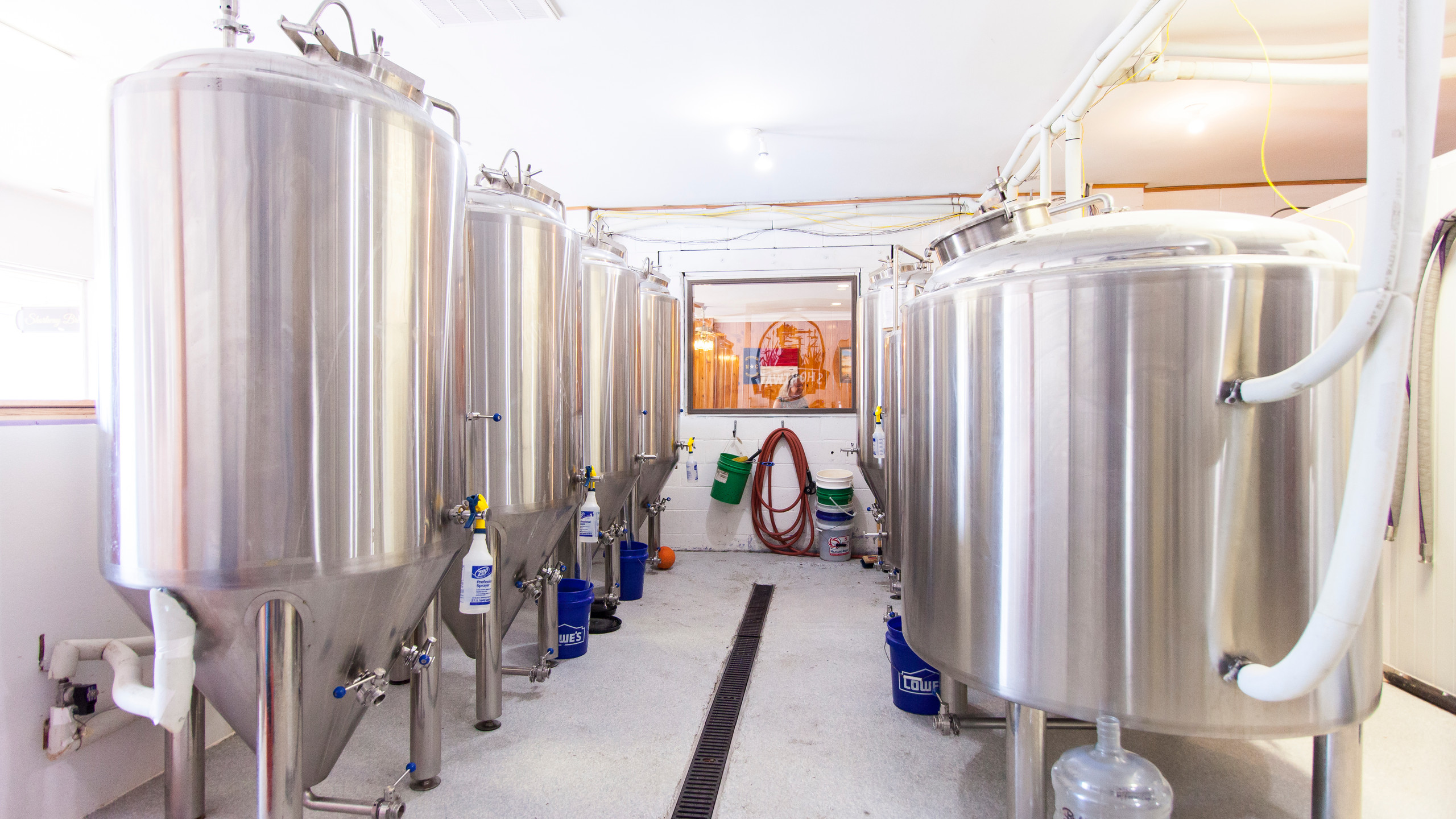 Fermenters all in a row
