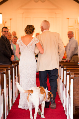 Father Walks Down the Aisle