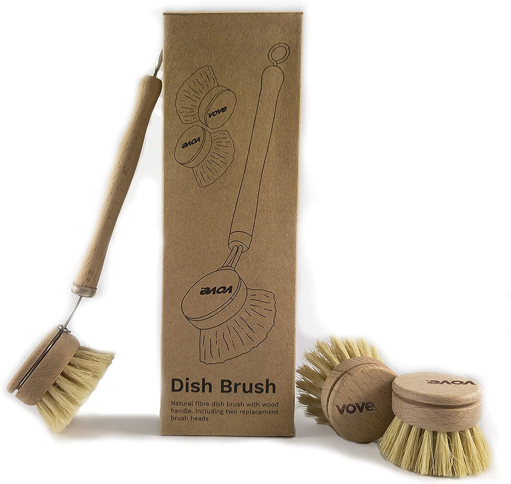bamboo eco-friendly brush for kitchen cleaning