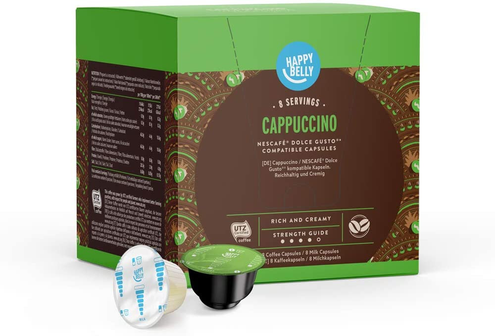 Happy belly, amazon brand, dolce gusto coffee pods
