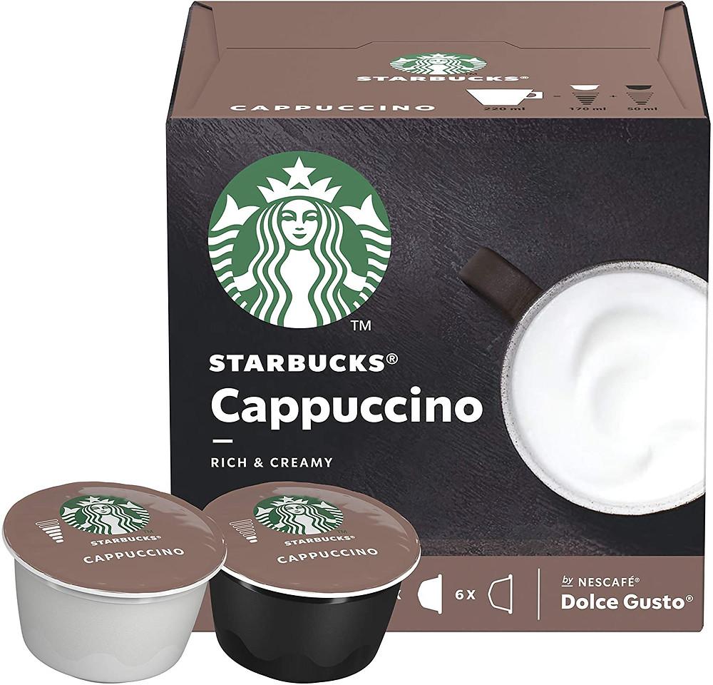 Srarbucks cappuccino dolce gusto coffee pods