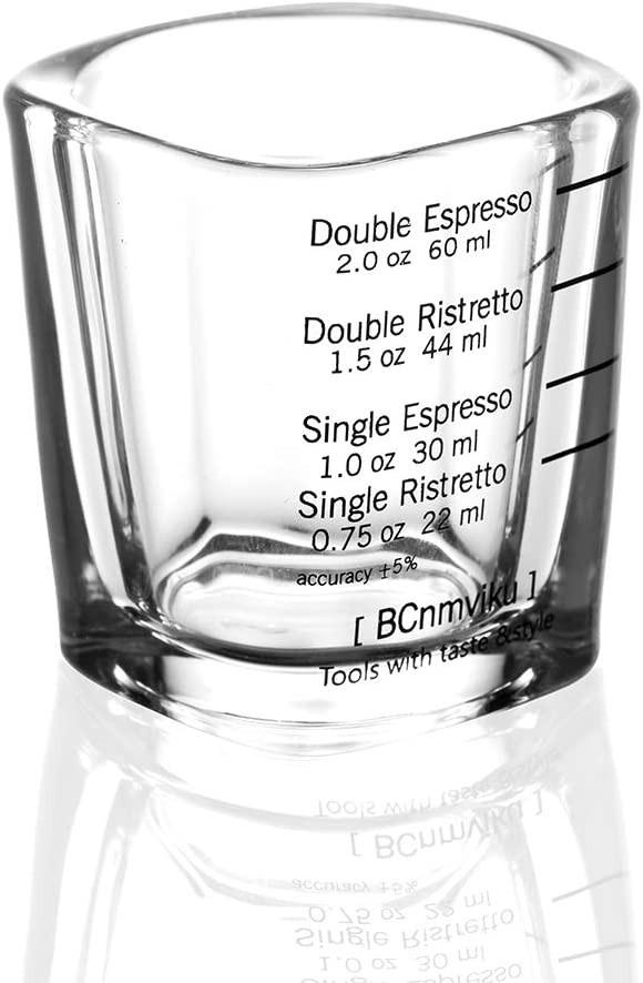 Espresso shot glasses with measurements
