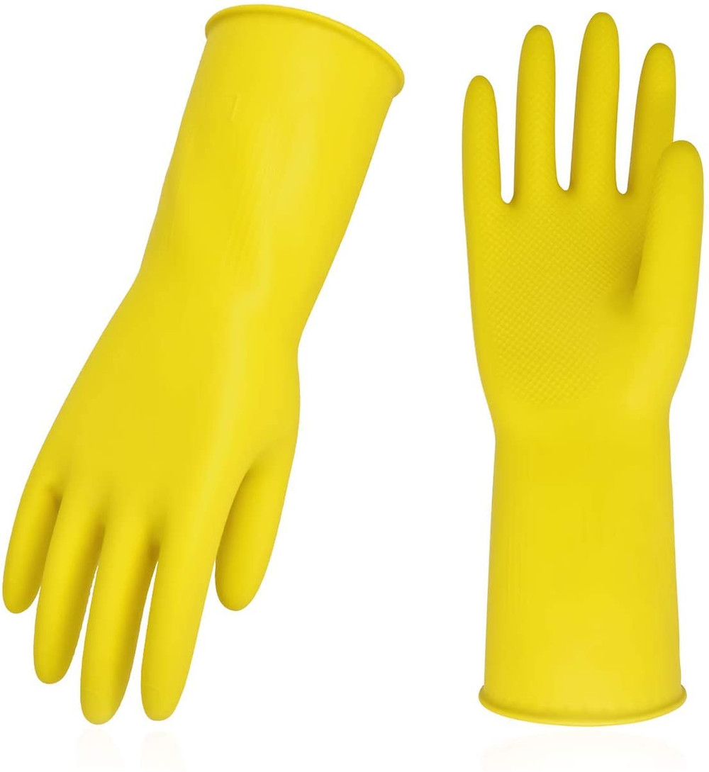 Vgo reusable dishwashing gloves yellow