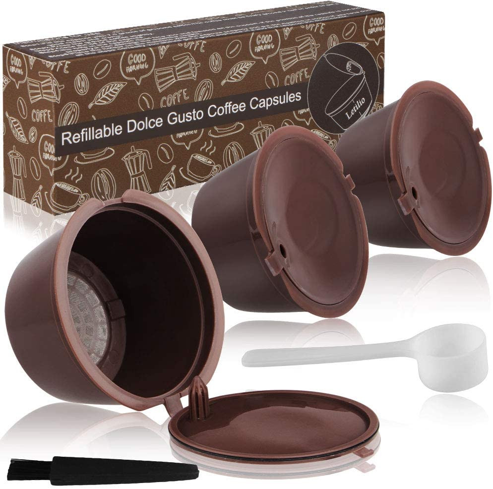 Letilio reusable coffee pods for dolce gusto machines