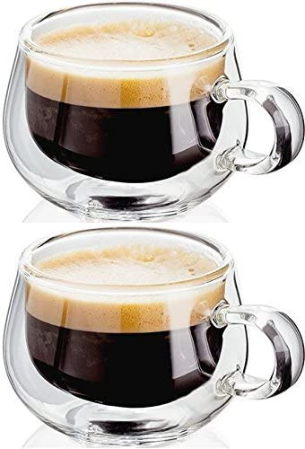 Judge espresso glass cups with handles