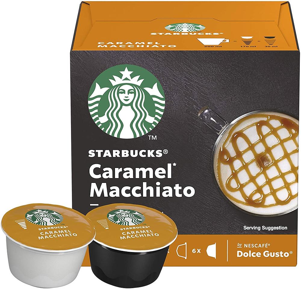 Starbucks caramel macchiato dolce gusto coffee pods