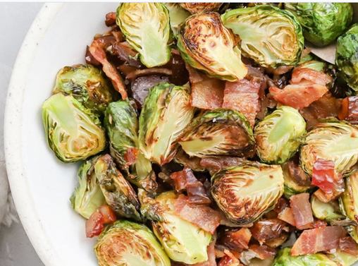 Brussel sprouts with bacon and date.