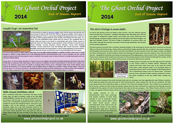 Ghost Orchid Project Season Report - 2014