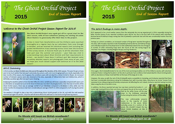 Ghost Orchid Project Season Report - 2015