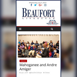 Mahoganee and Andre Amiger Beaufort Lifestyle Write Up.
