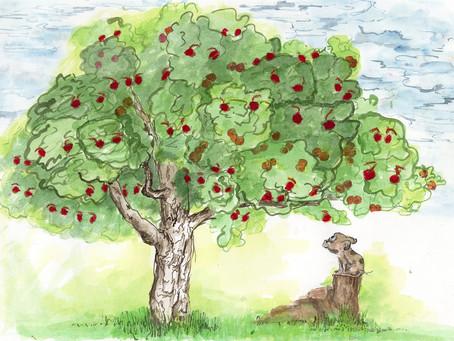 What if a piggy eats an apple?
