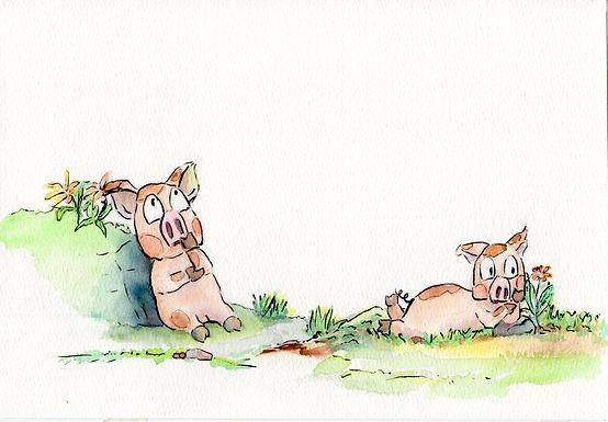 Piggy got a splinter
